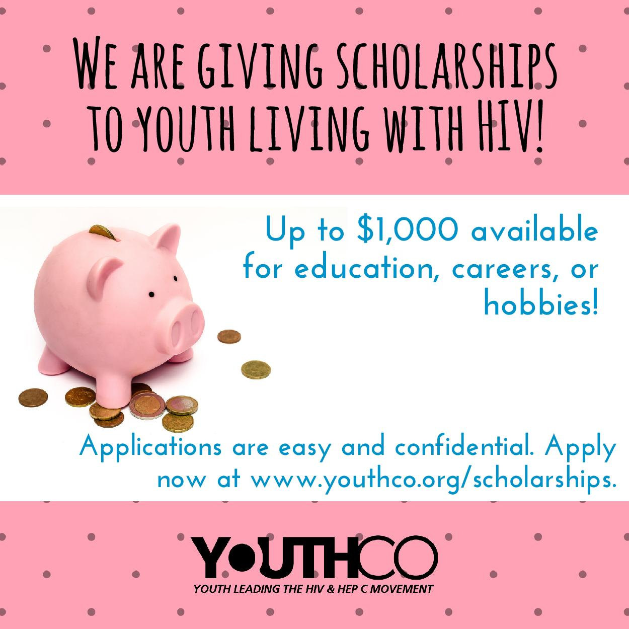 YouthCO poz youth scholarship poster