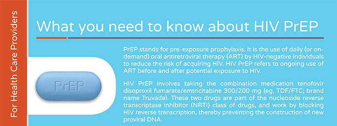 "Image of ""What you should know about HIV PrEP"" fact sheet for clinicians"