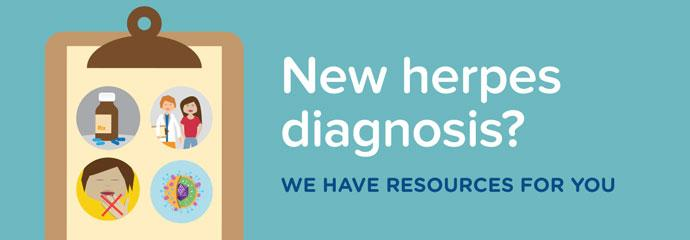 Banner ad for herpes resources produced by the BC Centre for Disease Control
